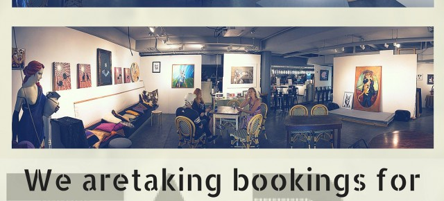TAP Gallery is taking Bookings for 2016