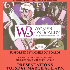 The annual International Women's Day Art Prize -  8th March