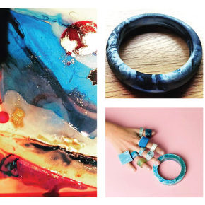 Exhibition of painting and jewellery by Rebecca and Shannon Dixon. Drinks with the artists Friday 28 from 7-10pm