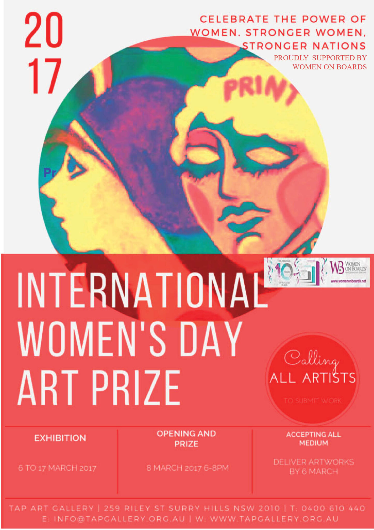 INT WOMENS DAY 2017 POSTER WITH LOGO