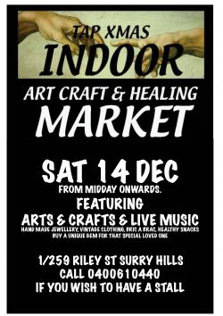 xmas market at tap gallery 14dec